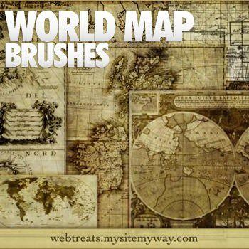 古い世界地図を簡単に描ける「World Map Brushes」無料ダウンロード