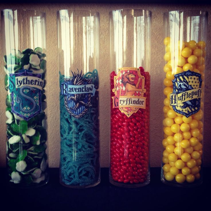 Harry Potter Theme - House point themed sweet jars. A perfect pairing.