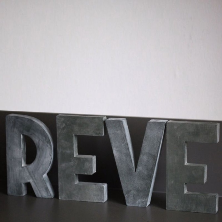 Lettres d co en zinc reve typo pinterest d co for Deco murale zinc