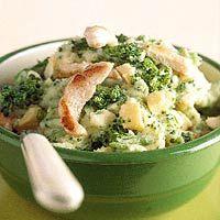 Recept - Broccolistamppot met kip en kaas - Allerhande