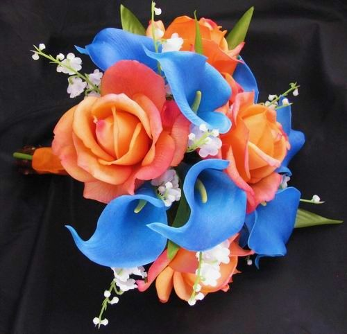 Doing Your Own Flowers For A Wedding: ORANGE & PEACH Bouquets