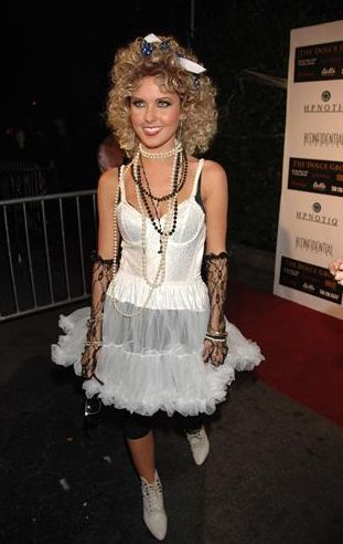 Audrina Patridge as 80's Madonna
