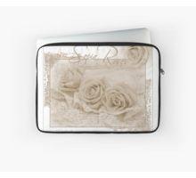 Laptop Sleeve.  #roses #threesepiaroses #sepiarosesandlace #rose #beadedlace #threesepiaroses #roseart #sepiaroseart  #romanticroses #feminineroses #floralhomedecor #sandrafoster