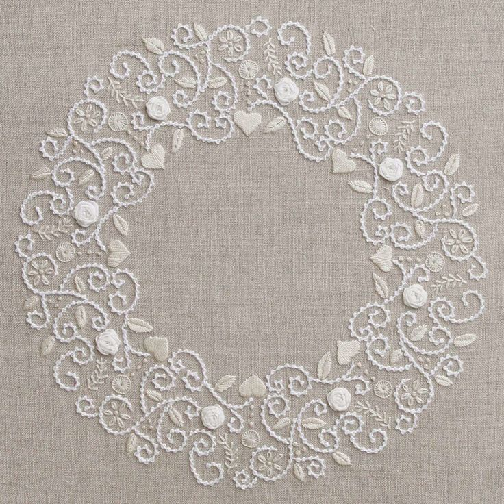 Roses de neiges – French Needlework Kits, Cross Stitch, Embroidery, Sophie Digard – The French Needle