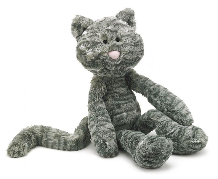 Merryday Cat van Jellycat is de beste vriend die je maar kunt hebben en perfect om mee te nemen op pad. Zijn lange slappe armen en benen zijn gemakkelijk vast te houden. Zijn vacht is lekker zacht en de kat heeft een lange staart. Hij zal graag zitten waar hij wordt geplaatst, de onderkant van de knuffel is gevuld met korreltjes.
