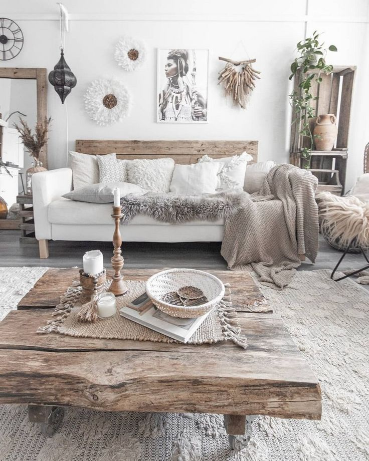 Bohemian decor is all about to play with textures….