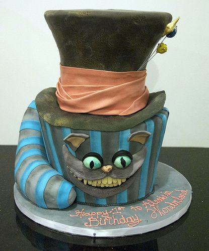Mad Hatter Cake looking for ideas for a mad hatter tea party coming up in just a month!