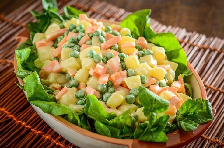 Entre Pratos e Copos | SALADA RUSSA OU MAIONESE DE LEGUMES.  Receitas Vegetarianas.