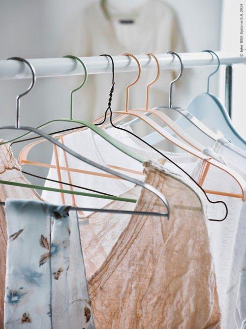Pastel wardrobe | Clothes hangers
