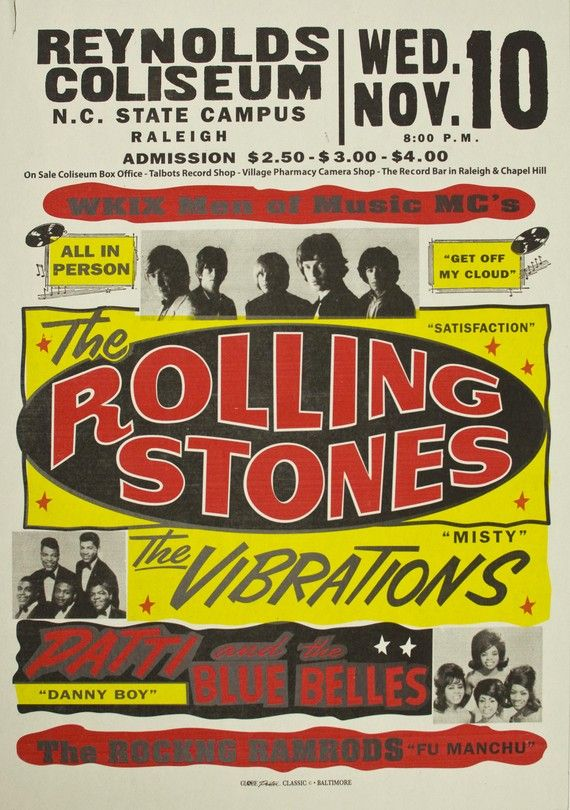 Rolling Stones - Globe Poster Classic Screenprint