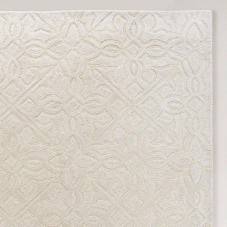 Thick Rous Wool Is Hand Carved To Create Depth And Pattern On Our Ivory Clic Rug