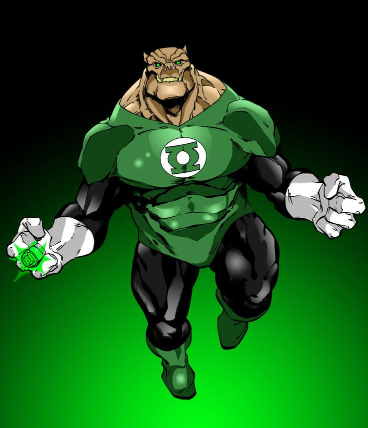 If there was an enforcer of the Green Lantern Corps, it would be their head drill instructor, Kilowog. The last survivor of his species, Kilowog is well-respected within the Corps for his strength & toughness. Aside from his exploits as the Corps' head trainer, Kilowog is highly regarded as one of the most powerful & skilled Green Lanterns in battle. His Bolovax physiology grants him levels of super strength & durability that most of his fellow Corpsmen cannot match.