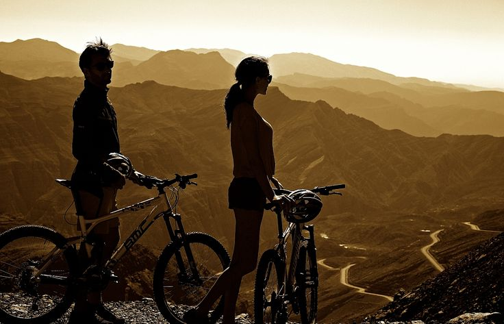 Exploring Ras Al Khaimah (UAE) by mountain bike.   ENTER TO WIN our Cycling Adventure Package valued at over $2,200 USD! → https://www.roaradventures.com/launch_contest?utm_content=bufferf878d&utm_medium=social&utm_source=pinterest.com&utm_campaign=buffer.   #bicycle #tours #cycling #adventures #RoarAdventures #bikeyouradventure