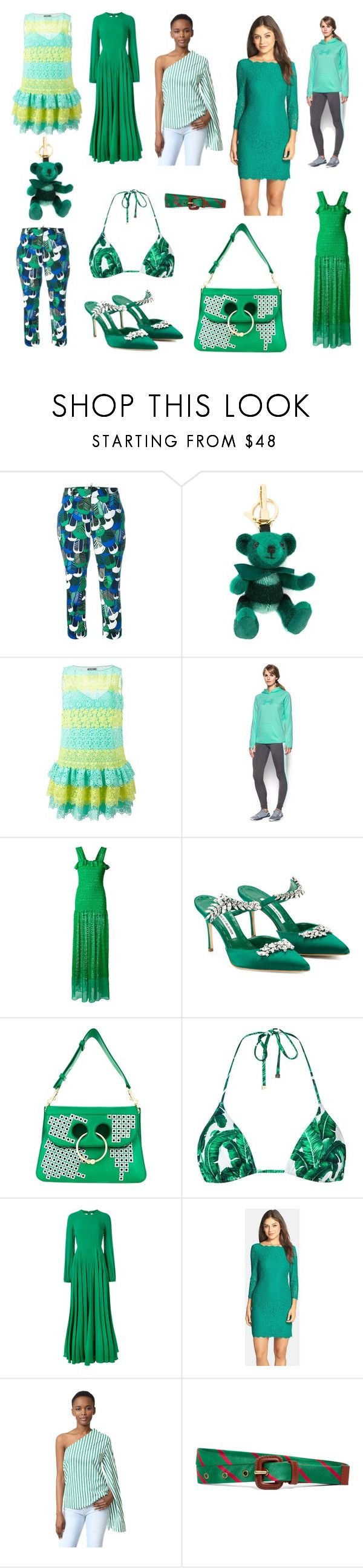 """Sunday Super Sale"" by donna-wang1 ❤ liked on Polyvore featuring Dsquared2, Burberry, Moschino, Under Armour, STELLA McCARTNEY, Manolo Blahnik, J.W. Anderson, Dolce&Gabbana, N°21 and Adrianna Papell"