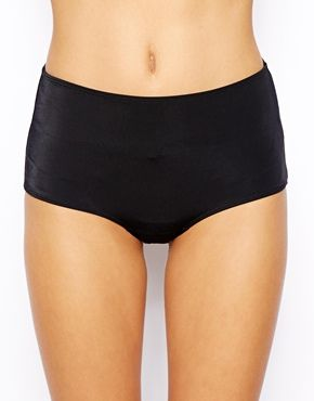Enlarge Monki Basy Mid Waist Bikini Bottom