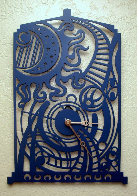 Dr Who Tardis Clock by BCMetalCraft on Etsy, $92.00