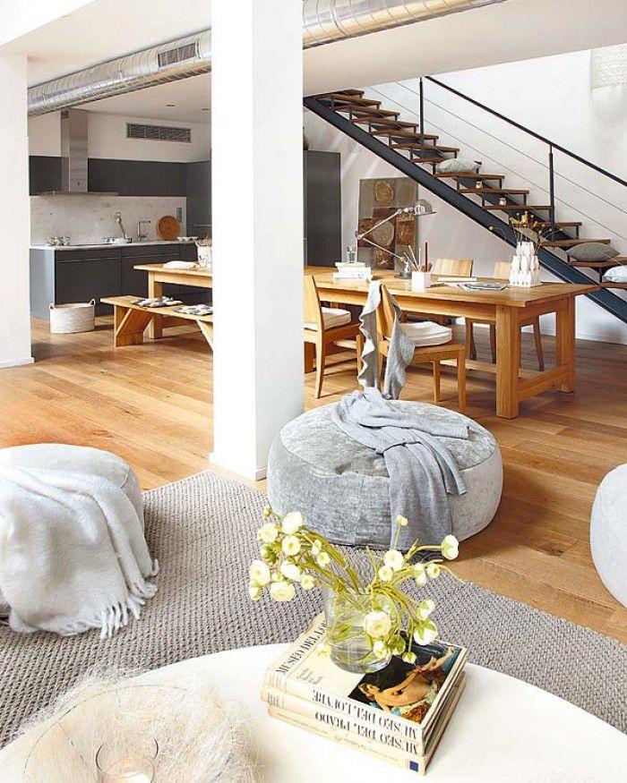 Perfekte küche essbereich und super schöne treppe