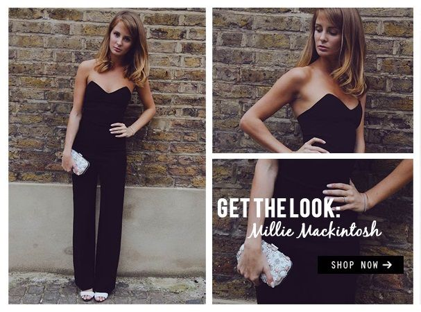 Get the look: Former Made In Chelsea star Millie Mackintosh in Rare London's Sweetheart Tailored Jumpsuit http://www.rarelondon.com/sweetheart-tailored-jumpsuit.html