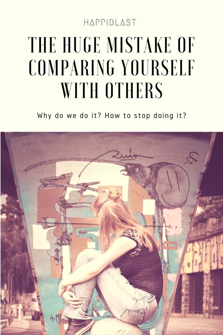 Stop comparing yourself with others. Follow next steps.