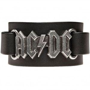 AC/DC LOGO LEATHER WRISTSTRAP WRISTBAND #acdc #wristband #jewelry #hardcore #wristwear #leather #metal #rockandroll #band #music #bandmerch #licensed #licensedmerch #entertainment #rocknroll #Ac/dc #rockabilia