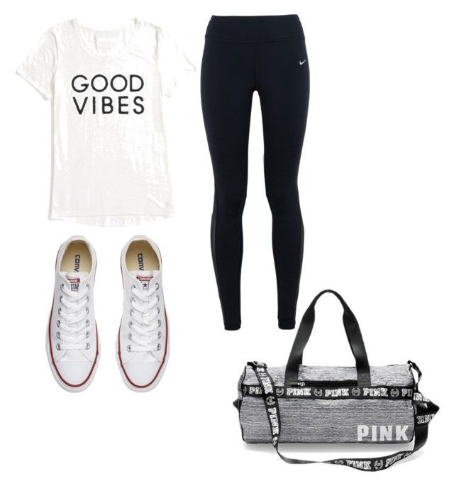 """""""Gym Time"""" by josiasashlee on Polyvore featuring Tommy Hilfiger, NIKE and Converse"""