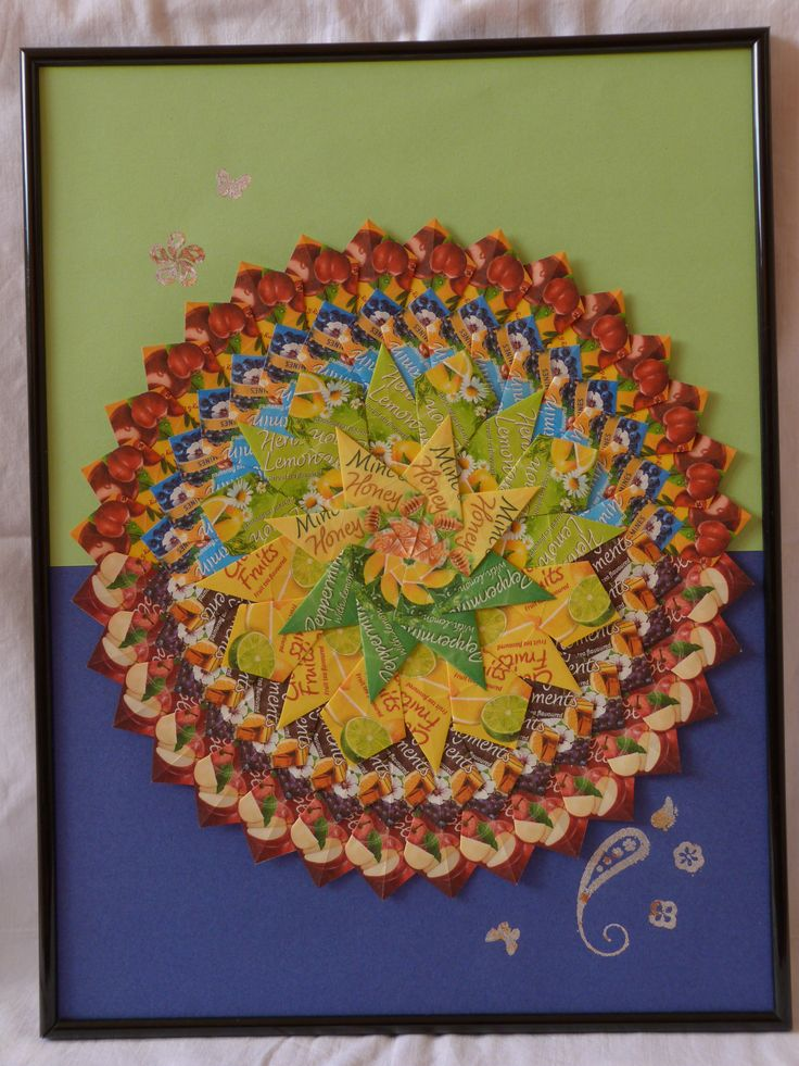 hand made by dadadj  tea bag mandala with indigo blu technique 30x40cm 20€