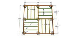 12x12 shed floor plans | Square Gazebo Plans