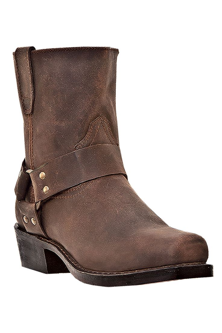 Dingo Men's Boots on sale @ HeadWest - Rev-Up Gaucho Nutty Mule Side Zip Harness Motorcycle Boots