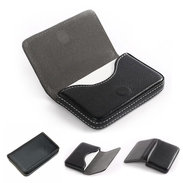 PU Leather Business Name Card Case Wallet Holder with Magnetic Shut Hot Sale