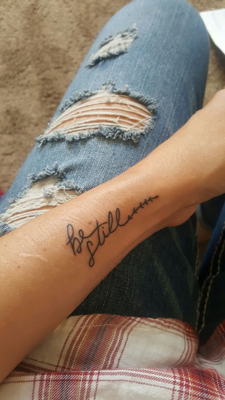 Be still wrist tattoo More