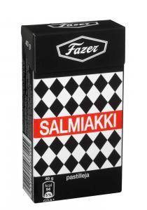 Salmiakki from Fazer, Finland. Only the best salty licorice in the world.