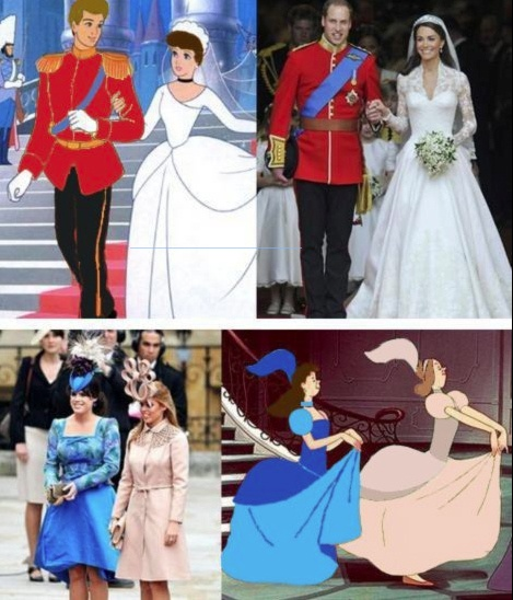 I have seen this before and even posted it, but I watched Cinderella today and the colours of the stepsister's dresses were actually red and green...