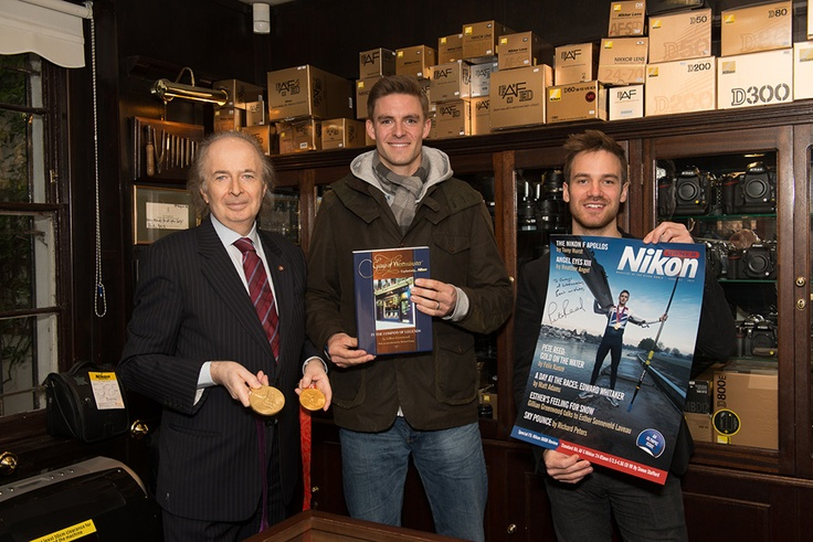 Gray Levett, Editor Of Nikon Owner magazine, Olympic gold medalist Pete Reed and the extremely talented Felix Kunze behind the cover shoot of Nikon Owner Magazine Issue 41