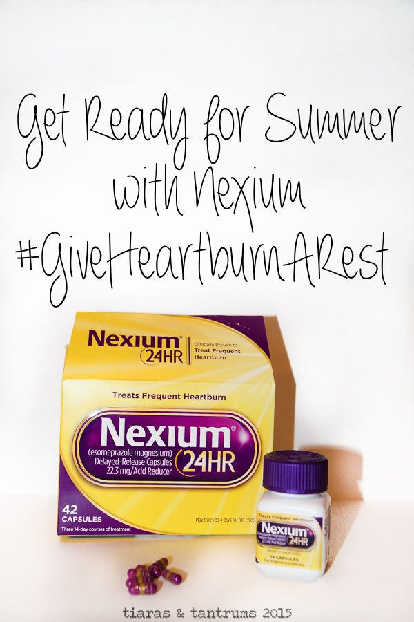 Get Ready for Summer with Nexium 24 HR #GiveHeartburnARest (ad)