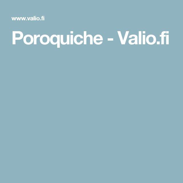 Poroquiche - Valio.fi