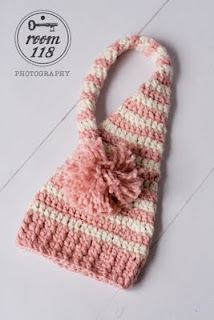 Long Tailed Baby Elf Hat tutorial