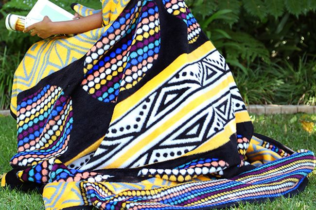 New Eland blanket - bright and fun