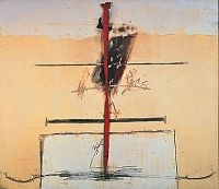 Antoni Tapies: Banda roja, 971