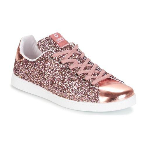 ffbc8e9b8b02 Zapatos Mujer Zapatillas bajas Victoria DEPORTIVO BASKET GLITTER Rosa