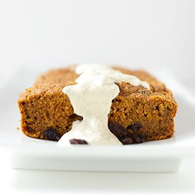 Simple vegan pumpkin bread studded with dried fruit. Moist, dense and perfectly sweet.