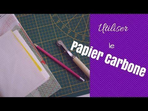 Reprendre un patron facilement : le papier carbone - YouTube