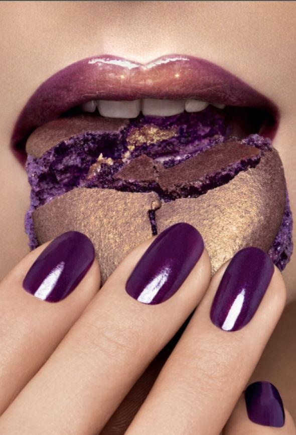 Helena Rubinstein's limited edition Delicious Beauty lipstick was inspired by Pierre Herme's lavender macarons.