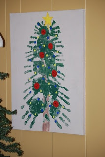Christmas hand and foot print crafts