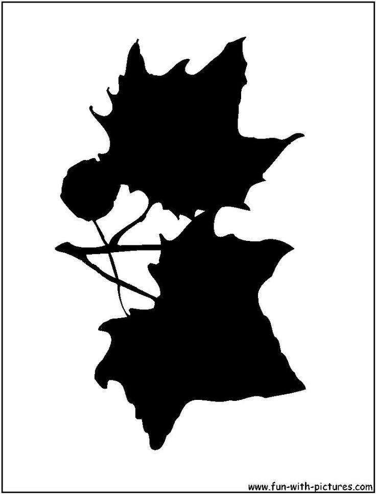 Maple Leaves Silhouette   silohuetts   Pinterest