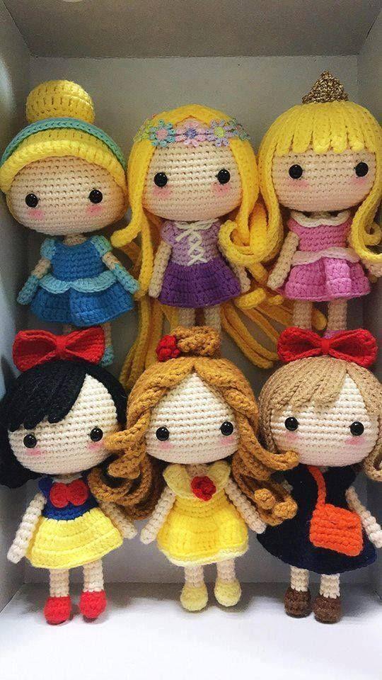 Klicke um das Bild zu sehen.  Disney Princess – Free Crochet Pattern – Salvabran…