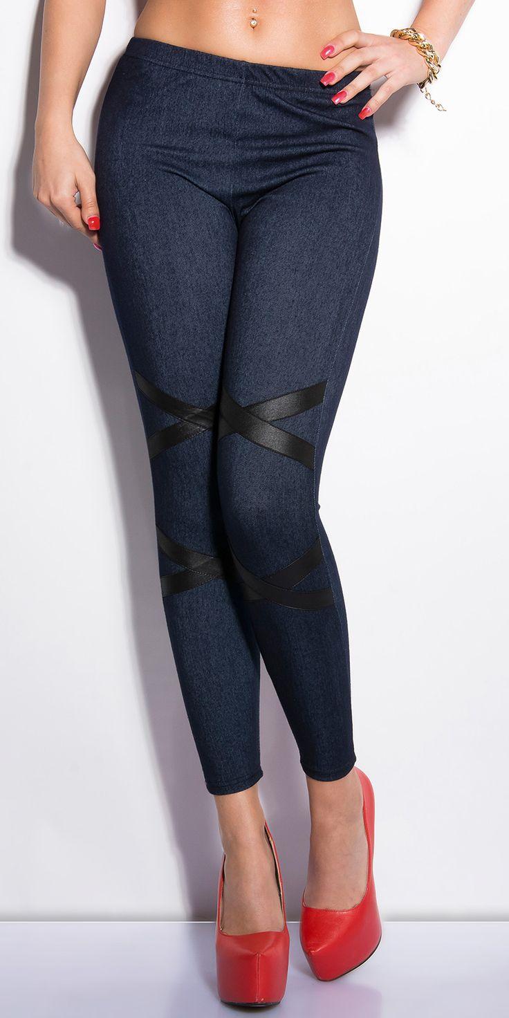 Leggings bleu jeans fashion