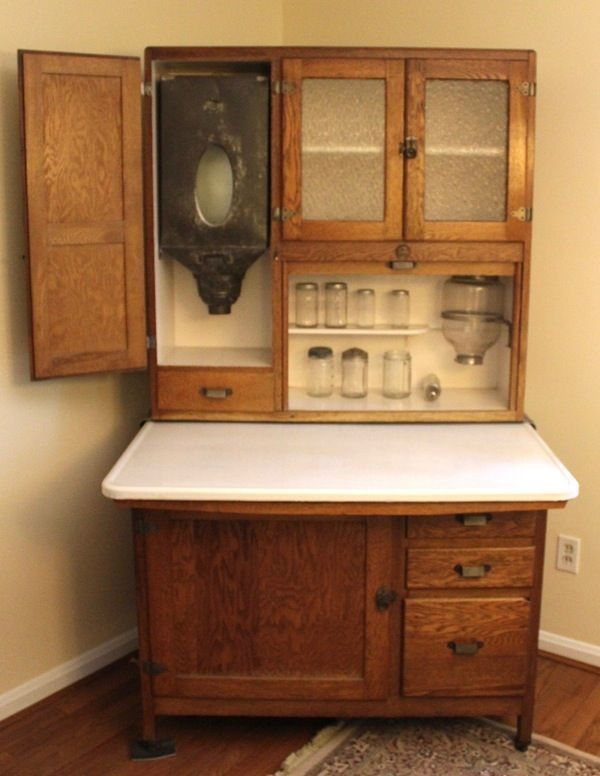 vintage wood kitchen cabinets antique kitchen cabinets with flour bin antiqued kitchen cabinets pictures and photos antique kitchen pantry antique kitchen ... & 19 Antique White Kitchen Cabinets Ideas with Picture [BEST]