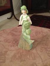 Porcelain Half Doll Victorian Flapper Lady Haberdashery Clothing Brush...