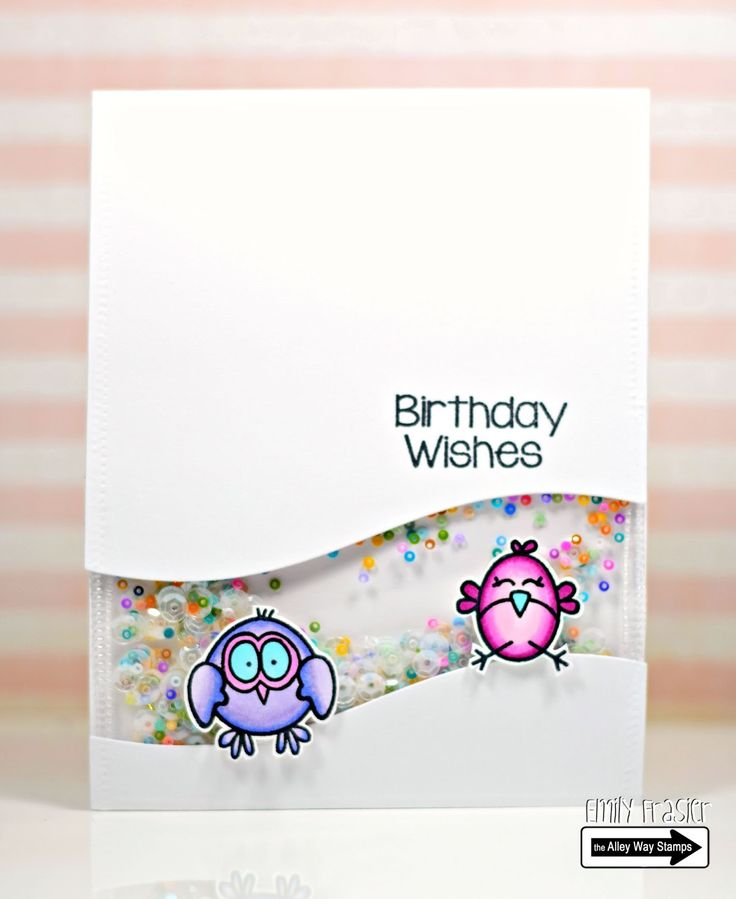 PiecesbyEmily, clear stamps, handmade card, papercrafting, TAWS, birthday card