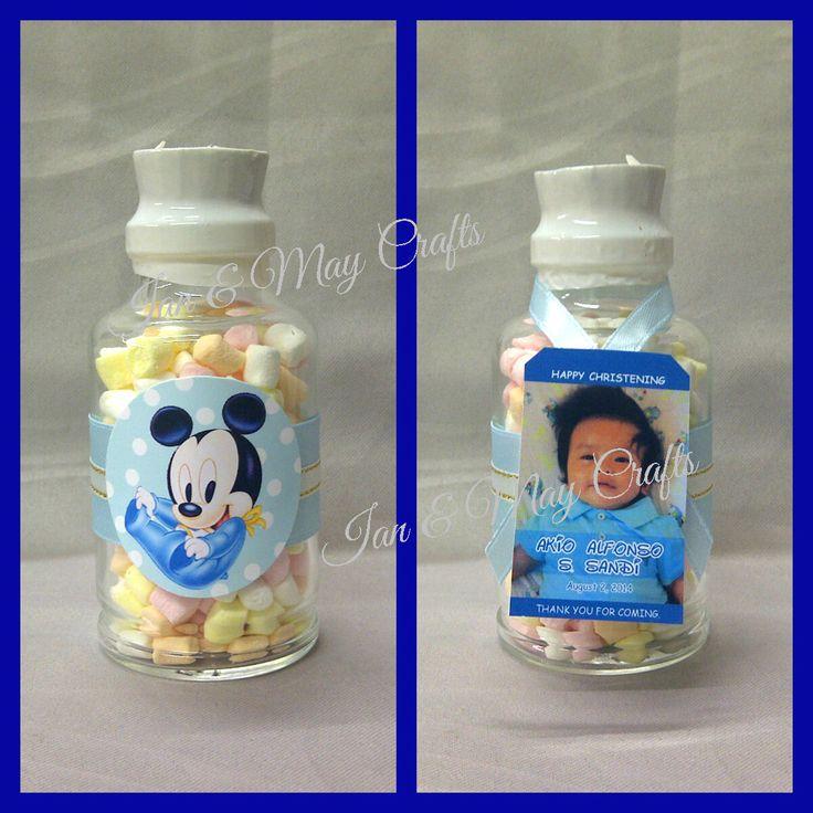 Cork Top Bottle Baby Mickey (with sweet treats)   https://www.facebook.com/media/set/?set=a.295420057271685.1073741825.125436300936729&type=3